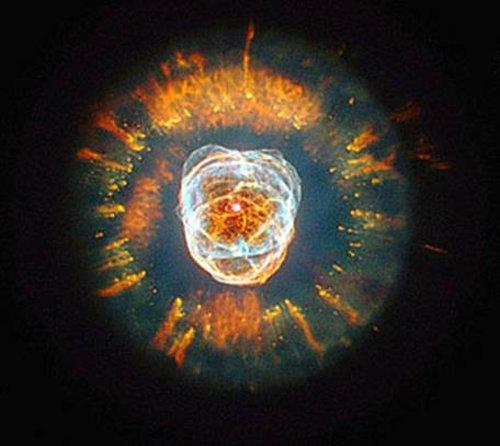 Nebula NGC 2392, called Eskimo