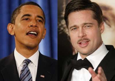 Barak Obama And Brad Pitt | Amazing Images www.supiri.com