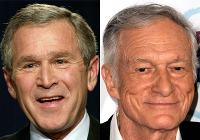 George W Bush And Hugh Hefner | Amazing Images www.supiri.com
