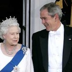 Queen with President George Bush - supiri.com